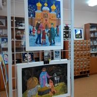 В библиотеке им. А.С.Пушкина открылась Рождественская выставка