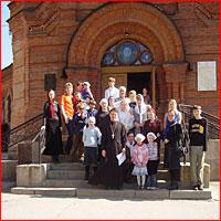 21 – 22 апреля группа учащихся воскресной школы при Богоявленском кафедральном соборе из 30 человек посетила г. Новосибирск.
