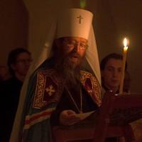 В канун Крещенского Сочельника митрополит Ростислав возглавил Всенощное бдение в Богоявленском соборе