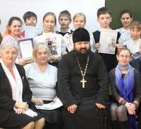 Игумен Кирилл посетил закрытие IX Рождественских чтений, проводимых подшефной школой