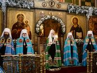 Митрополит Ростислав принял участие в патриаршем богослужении в Московском Сретенском монастыре