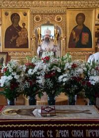 В Великую Субботу митрополит Ростислав совершил Литургию Василия Великого в Богоявленском соборе