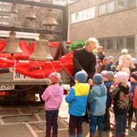 Воспитанники детских садов приобщились к пасхальной радости колокольного звона