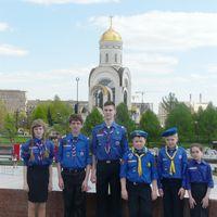 Томичи-следопыты приняли участие в Георгиевском параде в Москве