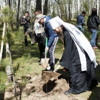 Митрополит Ростислав принял участие во всероссийской акции «Лес Победы»