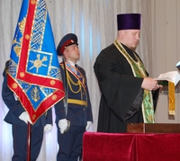 Священник совершил освящение знамен двух подразделений ФСИН России Томской области