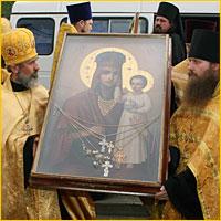 23 июня 2007г.  город Томск торжественно встречал святыню из Киева икону Божией Матери «Призри на смирение»