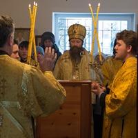 В селе Семилужки совершена Литургия архиерейским чином