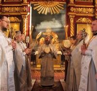 Архиерейское богослужение в Петропавловском соборе