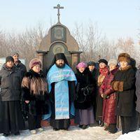 У иконы-памятника Феодору Томскому отслужен молебен