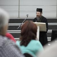 Митрополит Ростислав выступил с открытой лекцией о русском монашестве на Афоне (видео)