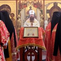 Епископ Силуан совершил богослужение Богородице-Алексиевском монастыре