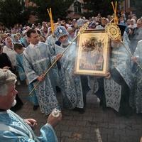 Томичи встретили икону Божией Матери «Всецарица»
