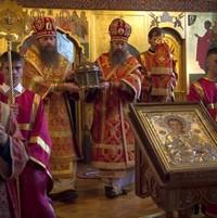 Престольный праздник в Кафедральном соборе Томска