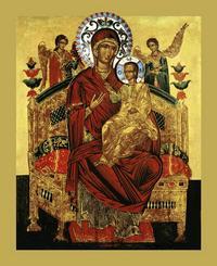 Икона Божией Матери «Всецарица» принесена в храм при Кардиоцентре