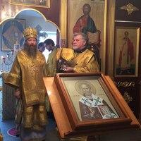 В престольный день в с.Семилужки совершена Литургия архиерейским чином