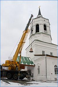 «Благовествуй, земле, радость велию!..»  В канун праздника Благовещения в Томский Богородице-Алексиевский монастырь был доставлен новый колокол.