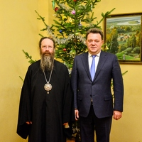 Мэр Города Томска поздравил митрополита Ростислава с праздником Рождества Христова