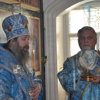 Митрополит Ростислав совершил Литургию в приходе Сретения Господня ИК №4 г.Томска