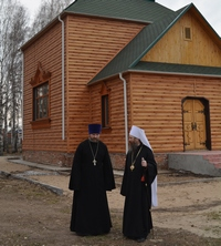 Митрополит Ростислав совершил Литургию в райцентре Зырянского района