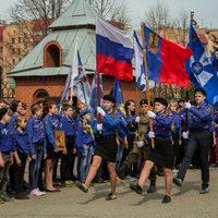Скауты из Томска приняли участие в Георгиевском параде в Кемерово