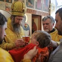 Митрополит Ростислав совершил Литургию в храме преподобного Сергия Радонежского г.Томска