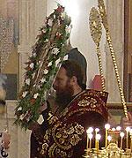 Архиепископ Томский и Асиновский Ростислав совершил Всенощное бдение с чином выноса Креста и Божественную литургию в Крестопоклонное воскресение Великого поста.