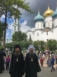 Архиереи Томской митрополии приняли участие в общецерковных торжествах в Свято-Троицкой Сергиевой лавре