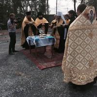 Митрополит Ростислав освятил камень в основание храма в Воронино