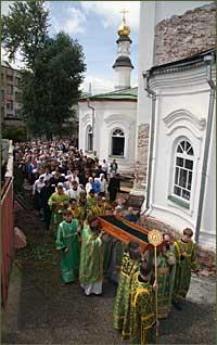 Торжества в честь обретения мощей святого праведного Феодора Томского