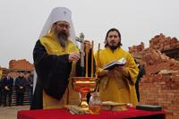 На берегу Томи заложен храм в честь святителя Николая Чудотворца