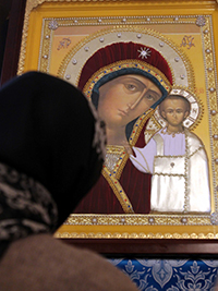 Юбилейный престольный праздник отметил Казанский храм монастыря
