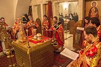 Литургию по древнему чину совершил митрополит Ростислав