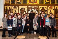 Подростки из Северска посетили Богородице – Алексиевский монастырь