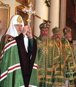 В день памяти святого благоверного князя Даниила Московского Предстоятель Русской Православной Церкви совершил вечерню, литургию Преждеосвященных Даров и молебен святому покровителю Москвы в Свято-Даниловом монастыре