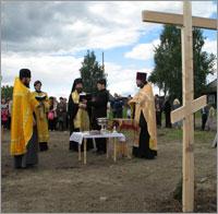 23 августа 2008г. в пос.Комсомольск был заложен каменый храм в честь  Рождества Пророка  Предтечи и Крестителя Господня Иоанна.
