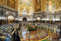 Архиереи Томской митрополии приняли участие в торжественном богослужении в Храме Христа Спасителя