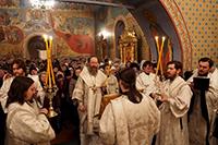 Сотни томичей приняли участие в новогоднем молебне в Богоявленском соборе