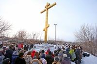 Богослужения на Каштачной горе в день Собора новомучеников и исповедников Церкви Русской