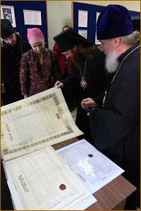 В музее Томской духовной семинарии состоялась презентация выставки документов, организованная сотрудниками Государственного архива Томской области