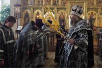 Глава Томской митрополии совершил последнюю в этом году Литургию Преждеосвященных Даров