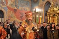 В Пасхальную ночь митрополит Ростислав возглавил торжественное богослужение в Богоявленском кафедральном соборе