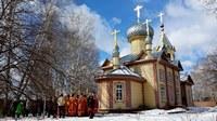 В Фомино воскресение Глава Томской митрополии совершил богослужение в с. Первомайское