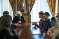 Митрополит Ростислав встретился с финалистами и призерами всероссийских православных олимпиад