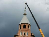 Над поселком Апрель впервые засиял православный крест!