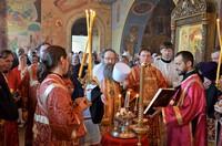 В Пантелеимоновском приделе Богоявленского кафедрального собора совершены торжественное богослужения
