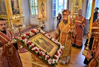 Митрополит Ростислав возглавил вечернее богослужение в канун престольного праздника Воскресенской церкви.
