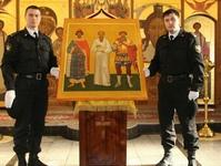 Икона Небесного Покровителя службы судебных приставов передана в дар Богородице-Алексеевскому монастырю