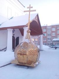 Купол для сельского храма освятят в Богородице-Алексиевском монастыре