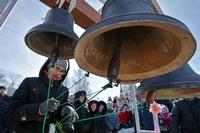 На месте разрушенного Троицкого кафедрального собора вновь зазвучали колокола